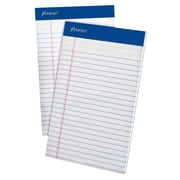 """Ampad® Evidence® Writing Pads, 5"""" x 8"""", Medium Ruled, White, 50% Recycled, 50 Sheets/Pad, 12/Pack (20-154)"""