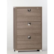 Sarmog 18-Pair Shoe Storage Cabinet; Gray Oak