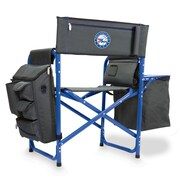 Picnic Time Fusion Chair; Philadelphia 76ers/Grey-Blue