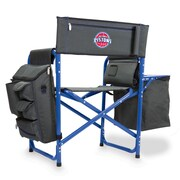 Picnic Time Fusion Chair; Detroit Pistons/Grey-Blue