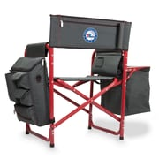 Picnic Time Fusion Chair; Philadelphia 76ers/Grey-Red