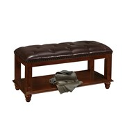 Glory Furniture Bucknell Wood Bedroom Bench; cherry