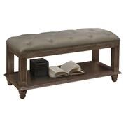 Glory Furniture Bucknell Wood Bedroom Bench; Gray
