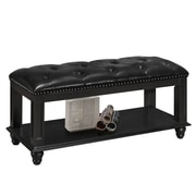 Glory Furniture Bucknell Wood Bedroom Bench; Black