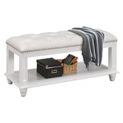 Glory Furniture Bucknell Wood Bedroom Bench; white