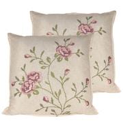 Serenta Rose Throw Pillow (Set of 2); Light Pink