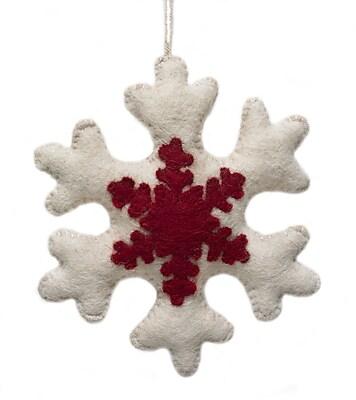 Arcadia Home Appliqued Snowflake Christmas Ornament (Set