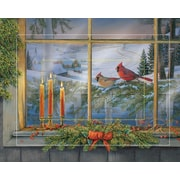WildWings Holiday Friends - Cardinals by Sam Timm Painting Print on Wrapped Canvas
