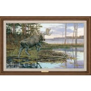 WildWings Backwater Bull by Ron Van Gilder Framed Painting Print