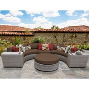 TK Classics Florence Outdoor Wicker 6 Piece Deep Seating Group w/ Cushion; Cocoa