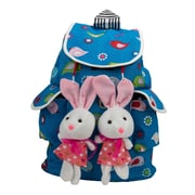 SumacLife Bunny Buddy Rucksack Style Kid's Backpack (Royal Blue)