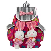 SumacLife Bunny Buddy Rucksack Style Kid's Backpack (Hot Pink)