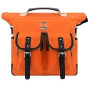 Lencca Mini Phlox Hybrid Backpack and Messenger Bag Orange 11 Inch (LENLEA053)