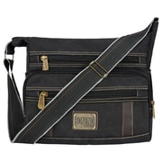 Vangoddy Principe Canvas Laptop Message Bag (Black)