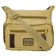Vangoddy Principe Canvas Laptop Message Bag (Khaki)