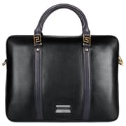 Vangoddy Meka Leather Briefcase Fits up to 11.75 inch Tablet/Notebook Black