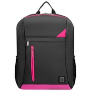 "Vangoddy Adler Laptop Backpack Fits up to 15.6"" Laptop Metallic Gray with Magenta Pink Trim"