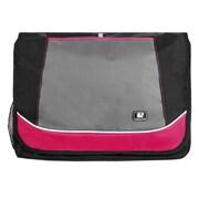 SumacLife Canvas Travel Laptop Messenger Bag (Magenta)