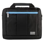 Vangoddy El Prado (Small) Laptop Messenger/Backpack (Black/Aqua)
