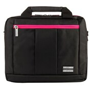 Vangoddy El Prado (Small) Laptop Messenger/Backpack (Black/Magenta)