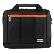 Vangoddy El Prado (Small) Laptop Messenger/Backpack (Black/Orange)