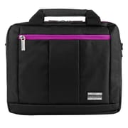 Vangoddy El Prado (Small) Laptop Messenger/Backpack (Black/Purple)