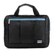 Vangoddy El Prado (Medium) Laptop Messenger/Backpack (Black/Aqua)