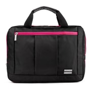 Vangoddy El Prado (Medium) Laptop Messenger/Backpack (Black/Magenta)
