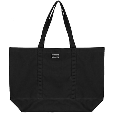 Vangoddy Isling Water Repellant Tote Bag w Removable Zippered Pouch Black Black
