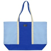Vangoddy Isling Water Repellant Tote Bag w/ Removable Zippered Pouch (Royal Blue/Natural)