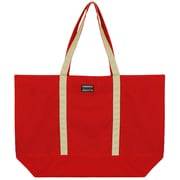 Vangoddy Isling Water Repellant Tote Bag w/ Removable Zippered Pouch (Red/Natural)