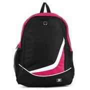 "SumacLife Compact Lightweight Nylon Casual Daypack 15"" Laptop Backpack (Magenta)"