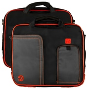 Vangoddy Pindar Laptop Sleeve Messenger Shoulder Bag - Small (Black and Red)