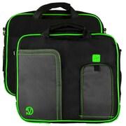 Vangoddy Pindar Laptop Sleeve Messenger Shoulder Bag - Small (Black and Green)