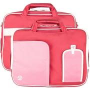 "Vangoddy Pindar Laptop Sleeve Messenger Shoulder Bag Fits up to 13"" Laptops - Medium (Pink and White)"
