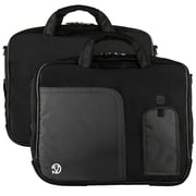 """Vangoddy Pindar Laptop Sleeve Messenger Shoulder Bag Fits up to 15"""" Laptops - Large (Black)"""
