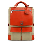 Lencca Alpaque Crossover Laptop Bag (Raw Beige/Orange)