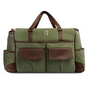 Lencca Alpaque Duffle Bag and Laptop Holder (Forest Green/Espresso Brown)