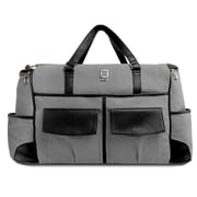 Lencca Alpaque Duffle Bag and Laptop Holder (Gray/Black)