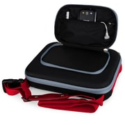 "Vangoddy Lish 10"" Black and Red Hard Cube Carrying Case"