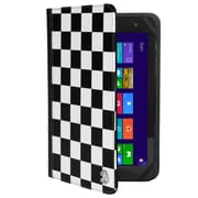 "Vangoddy Mary 2.0, 7 - 8"" Universal Wallet Tablet Portfolio Case (Black/White Checker)"