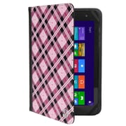 "Vangoddy Mary 2.0, 7 - 8"" Universal Wallet Tablet Portfolio Case (Pink Checker)"