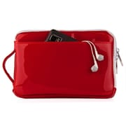 "Vangoddy Hydei 7"" Protector Case with Shoulder Strap with Handle (Red Patent Leather)"