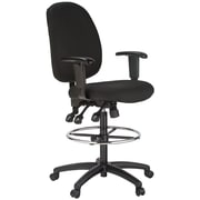 Harwick Height Adjustable Drafting Chair; Black