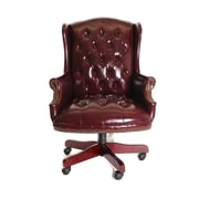 TimeOffice High-Back Leather Executive Chair