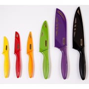 Zyliss Zyliss 6 Piece Kitchen Knife Set w/ Sheath Covers, Stainless Steel