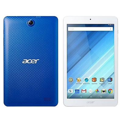 """""Acer ICONIA B NT.LC4AA.001 8"""""""" Tablet, 16GB, Android 5.1 Lollipop, Blue/White"""""" IM14T2237"