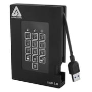 Apricorn Aegis Padlock Fortress 1TB 180 Mbps Read/Write USB 3.0 Solid State Drive, Black (A25-3PL256-S1000)