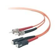 Belkin™ A2F20207 1 m ST to SC Male/Male OM1 62.5/125 Duplex Multi-mode Fiber Optic Patch Cable, Orange
