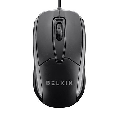 Belkin Optical Wired Ergonomic Mouse, Black (F5M010QBLK)